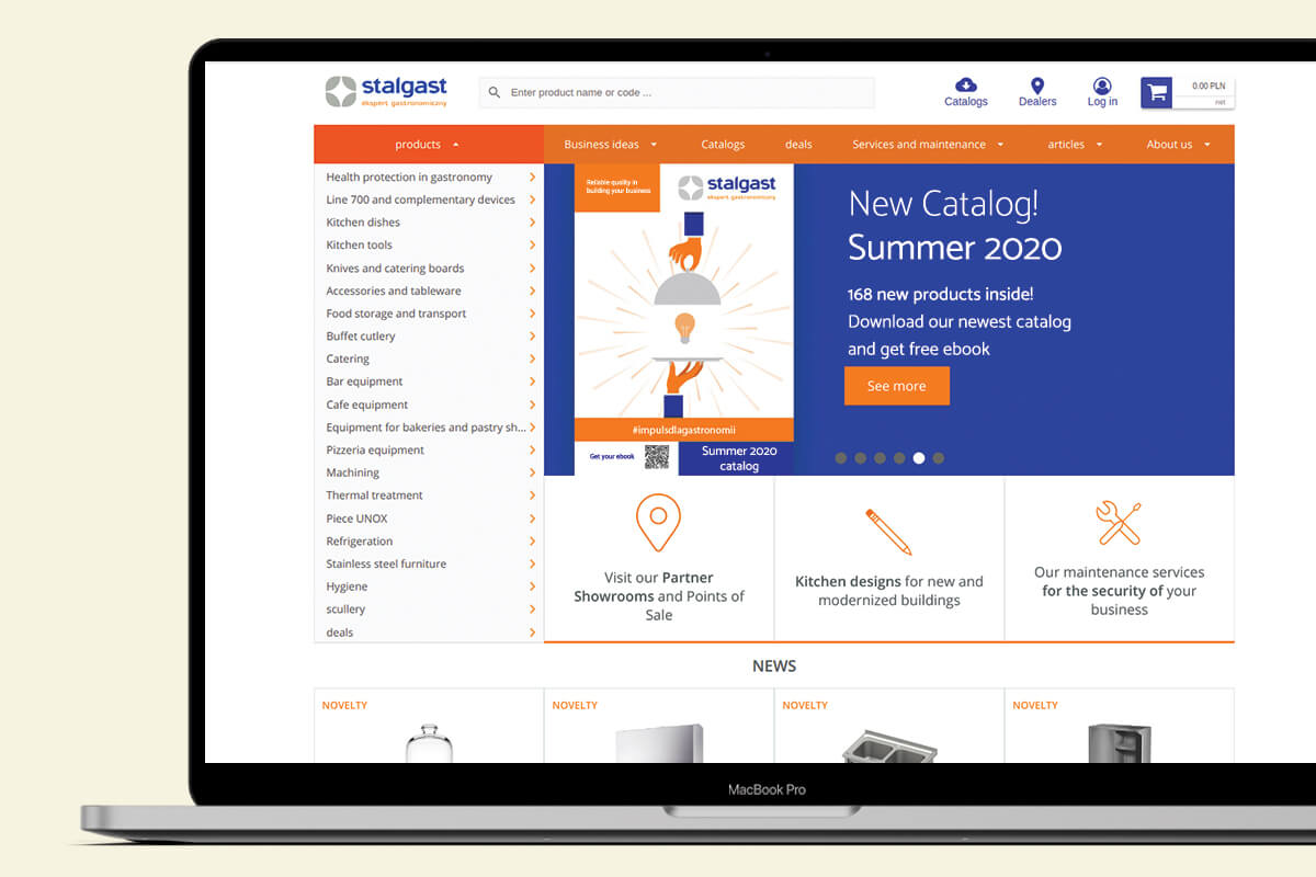 Stalgast eStore screenshot